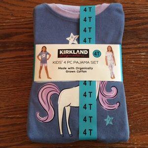 Girls Kirkland Signature 4 Pc Unicorn Pajama Set